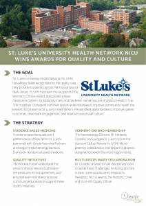 St luke's university health network NICU wins awards for quality and culture thanks to onsite neonatal partners