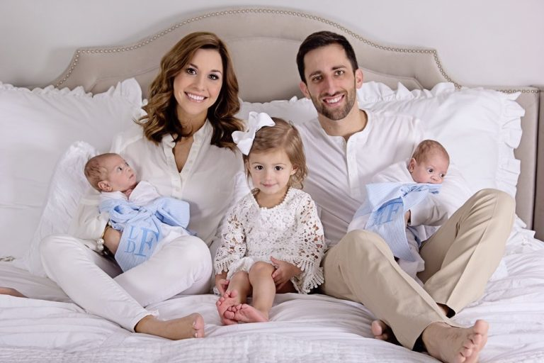 The Fontana family at home after their stay in an Onsite NICU