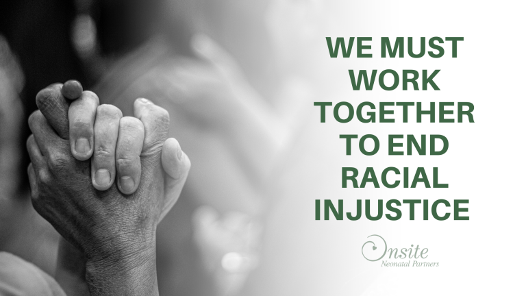 holding hands title we must work together to end racial injustice